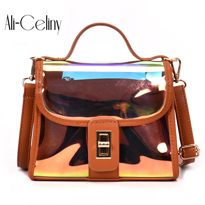 2-in-1 HOT Fun personalized fashion laser shell shape chain shoulder bag purse ladies crossbody handbag mini messenger bag flap