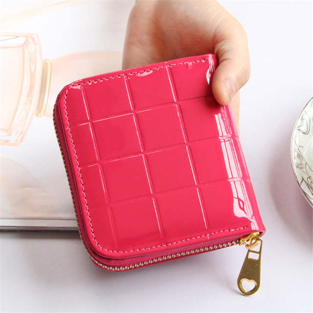 247ab6e757a3 placeholder Women Coin Purses Small Change Purses Short Wallet Patent Leather  Coin Bag Card Holder Pouch Mini