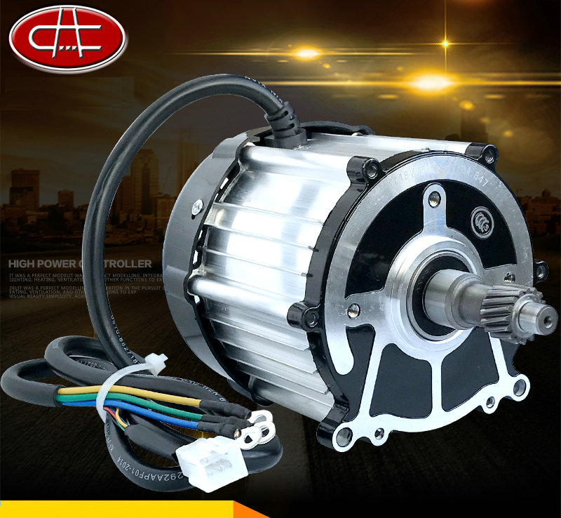 DC48V/60V 550W Permanent Magnet Brushless Motor / Differential Motor / Electric Scooter Motor 60v1800w 4500rpm permanent magnet brushless dc motor differential speed electric vehicles machine tools diy accessories motor