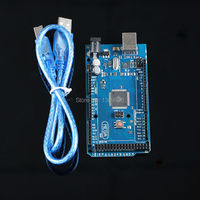 Free Shipping Mega 2560 R3 Mega2560 REV3 ATmega2560 16AU Board USB Cable Compatible For Arduino Good