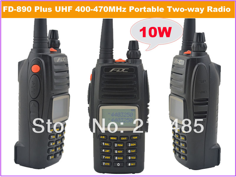 2014 March New Arrival FDC FD 890 Plus 10Watt UHF 400 470MHz Professional FM Transceiver