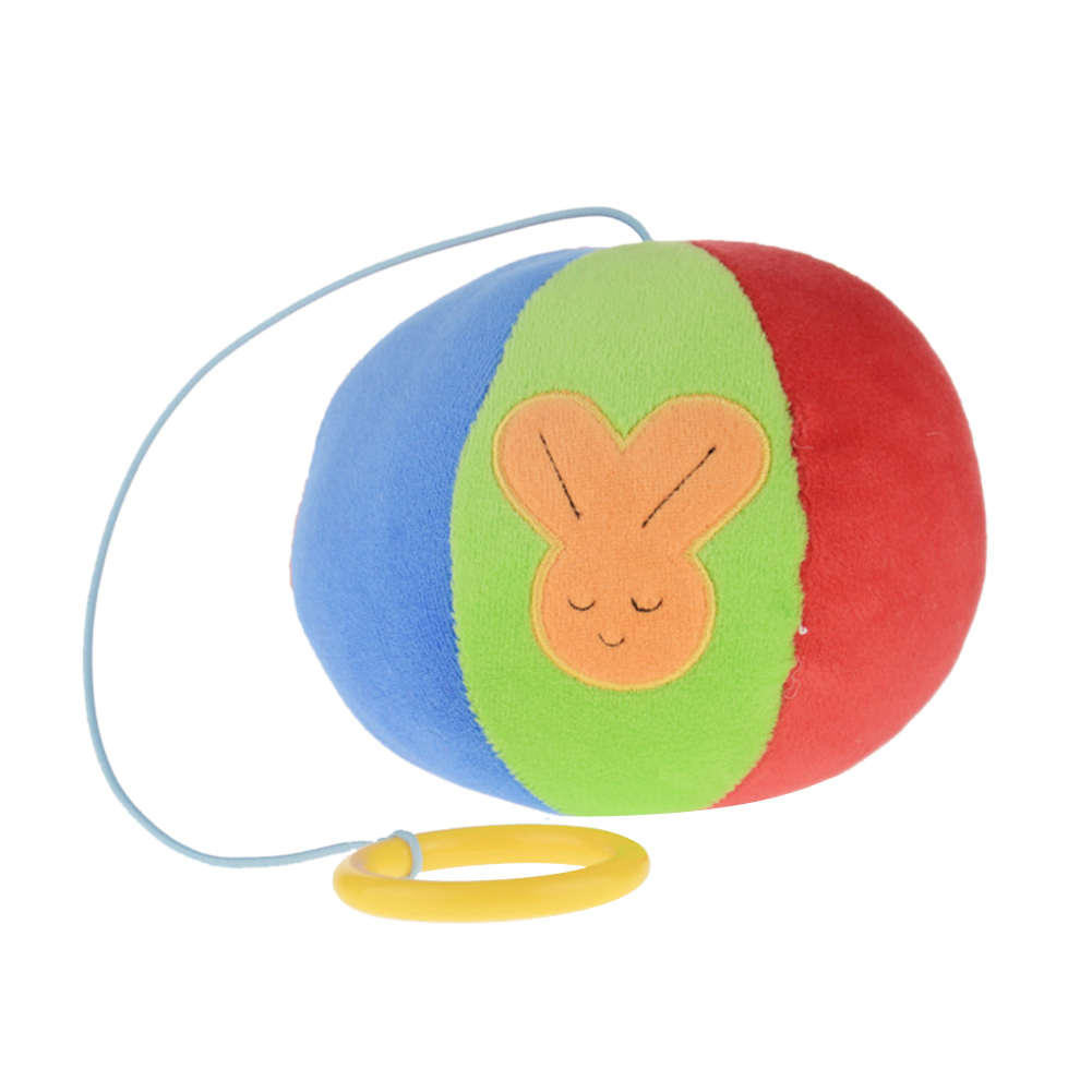 Colorful Soft Plush Rattle Ball Toy with Bell Inside Baby Crib Stroller Hanging Grasp Ba ...