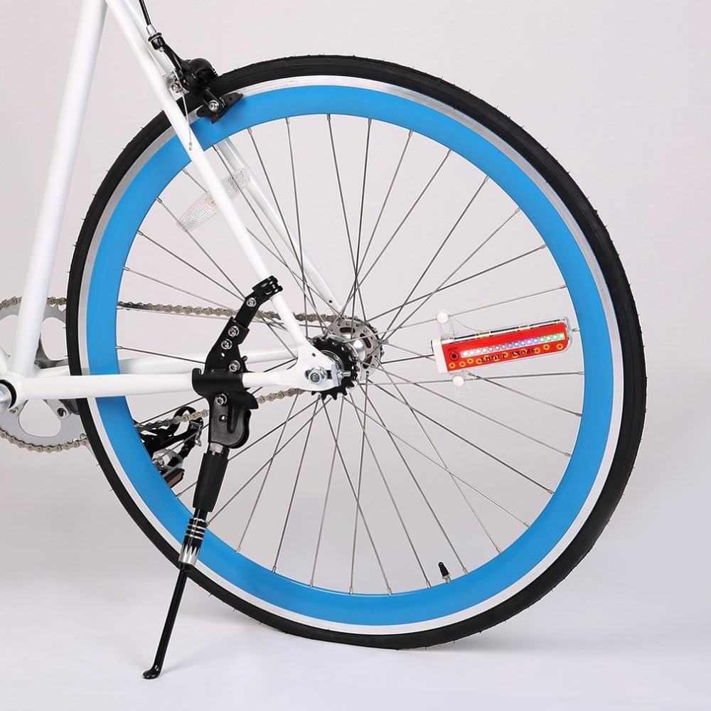 LED Reflective Bicycle Tyre Rims Mountain Bike 32 Mode Warn Light Signal Lamp