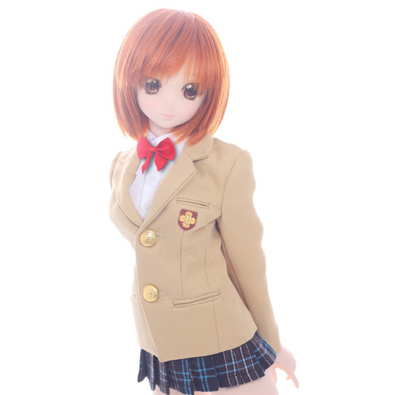 wamami 300 Animation Railgun Misaka Mikoto School Uniform Suit 1 3 BJD DD DDM DDL