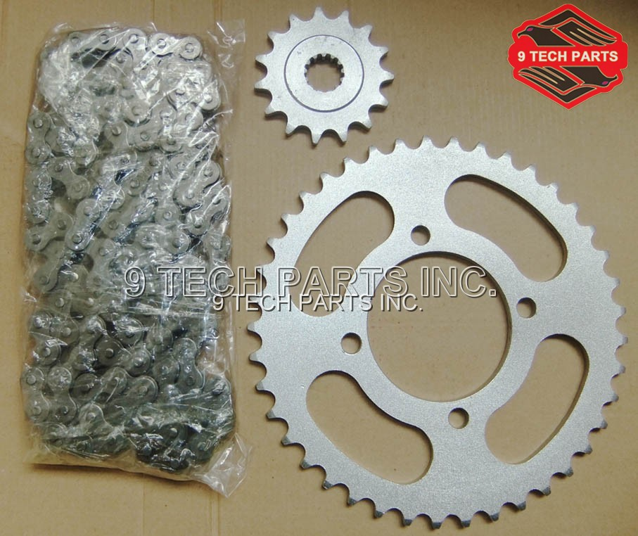 HIGH QUALITY CHAIN & SPROCKET KIT RACING PARTS FOR SUZUKI GN250 GN 250 цена