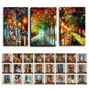 High Quality 3D Multiple Style Multicolor Modern Knife Oil Painting On Canvas Abstract Landscape Wall Art