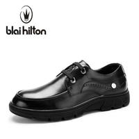 Blaibilton Platform Luxury Men Shoes Casual Oxford Genuine Leather Classic Male Elegant Wedding Office Business Dress