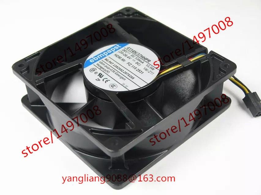 ebmpapst 4114N/37HHPR DC 24V 530mA 13.5W connector 70mm Server Square Fan цена