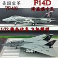 Nuevo 1/72 Escala Modelo Airpane Juguetes EE.UU. F-14 Tomcat Luchador ABS Modelo de Avión de Juguete Para El Regalo/Colección/niños