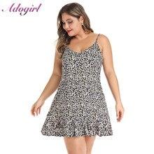 купить Plus Size Dress Elegant Summer Floral Print Spaghetti Strap Boho Mini Dress Women Casual Off Shoulder Party Dresses Wrap Vestido по цене 715.79 рублей