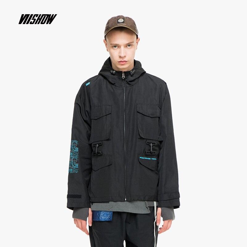 Qualité vent Mode Vêtements Automne 2018 De Haute Jc2388183 Safari Hommes Black Style Veste Coupe Viishow Noir Blouson 5H6xP0n0