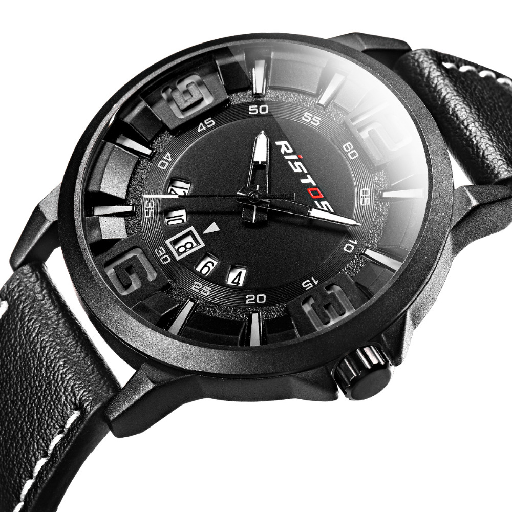 где купить LONGBO Luxury Leather Strap Brand Watches Sports Men Water Resistant Business Watch Male Easy Read Auto Date Wristwatches 9331 по лучшей цене