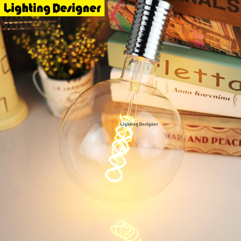 G150 Edison bulb LED E27 220V 4W bubble ball bulb Vintage Filament Retro Energy saving lamp light fixture Lighting Art chandelie 5pcs e27 led bulb 2w 4w 6w vintage cold white warm white edison lamp g45 led filament decorative bulb ac 220v 240v