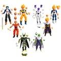 8 unids/set Dragon Ball Z Piccolo Vegeta Trunks Freezer Articulación Móvil Krilin Gohan PVC Figuras de Acción Colección Modelo Juguetes