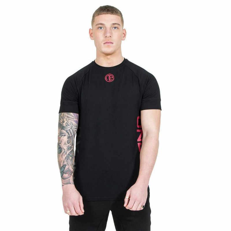 YEMEKE koszulka męska czarny granatowy koszulki z nadrukiem męska koszulka kompresyjna kapitan z krótkim rękawem dla mężczyzn topy wysoka elastyczność
