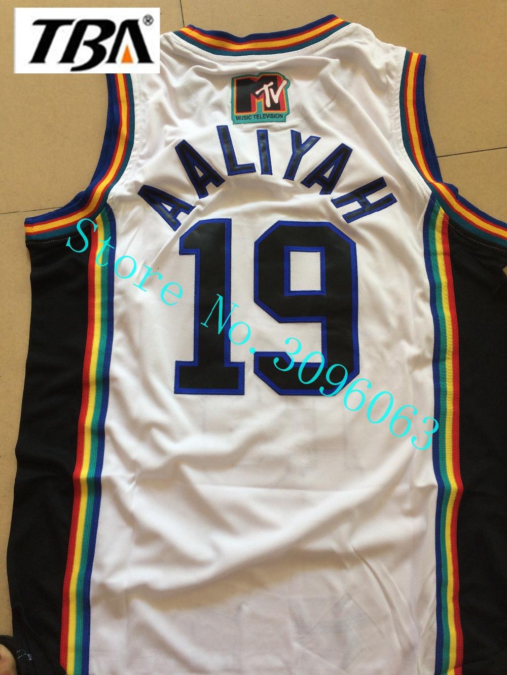 Aaliyah MTV Rock N Jocks Fabolous MTV Awards Throwback Film Basketball Jerseys,