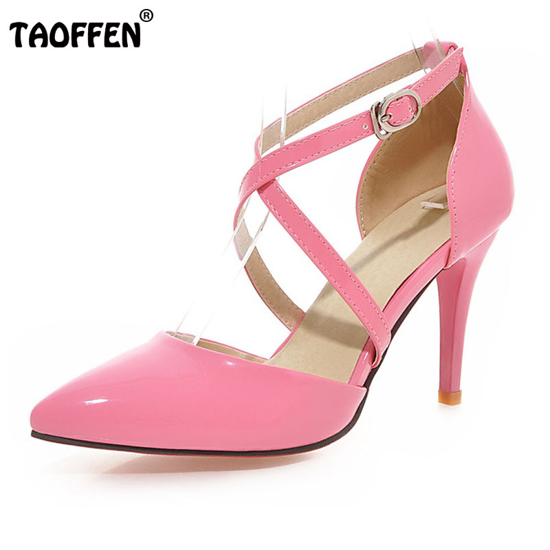new brand stiletto ladies high heel sandals pointed toe party women ankle strap fretwork footwear heels shoes size 33-43 P22670 самокат yedoo city ltd sailor 110712