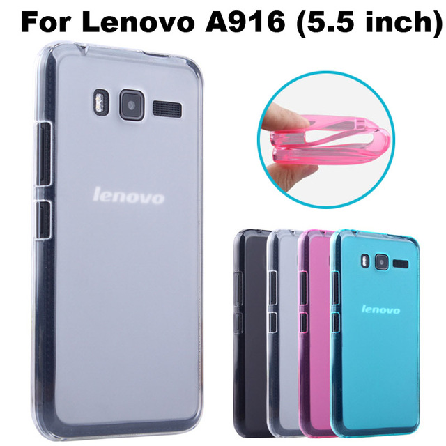 Lenovo A916 Case Cover 4 Colors Matte TPU Soft Back Cover Phone Case For Lenovo A916 A 916 Back Cover Case (5.5 inch)