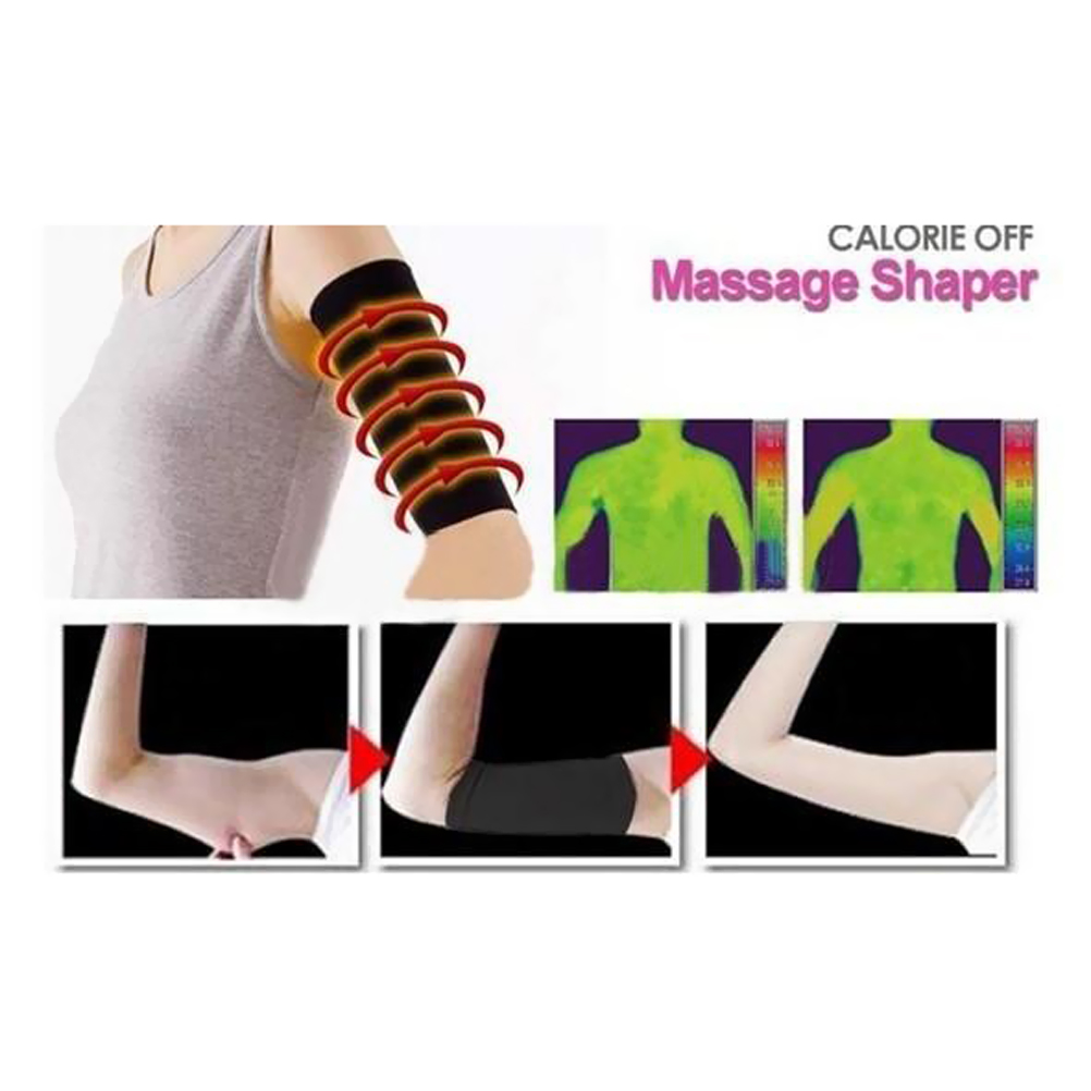 97f6d31cdf 1 x Pair Burn Fat Weight Loss Arm Shaper Fat Buster Off Cellulite Slimming  Wrap Belt Band