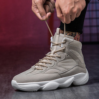 High Top Mens Sneakers Autumn Winter Man Running Shoes Beige Army Green Walking Male Sneakers Comfortable Sport Shoes Men