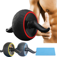AB Roller Wheel Fitness Abdominal Muscle Stimulator Core Waist Arm Strength Exercise Crossfit Press Gym Home