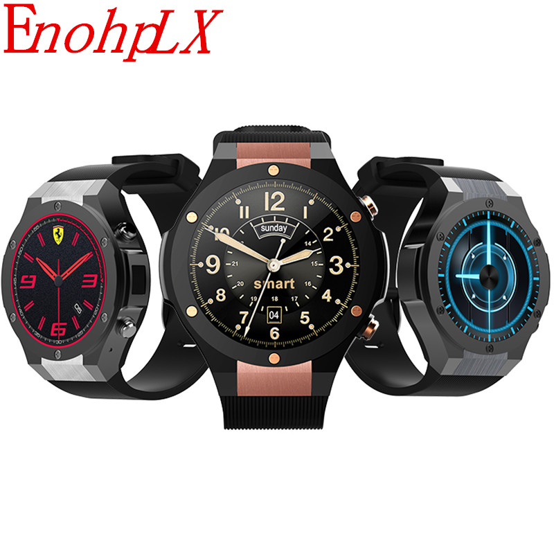 EnohpLX H2 3G Smartwatch Phone 1.39 inch MTK6580 Quad Core 16GB ROM 2.0MP Cam Heart Rate Monitor Pedometer GPS Smart Watch enohplx kw99 3g smartwatch phone android 5 1 1 39 mtk6580 quad core 8gb rom heart rate monitor pedometer smart watch for men