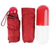 Mini Capsule Pocket Umbrella Rain Women Clear Light Umbrellas Sun Kids Folding Windproof Adult Children Travel Parapluie 53cm