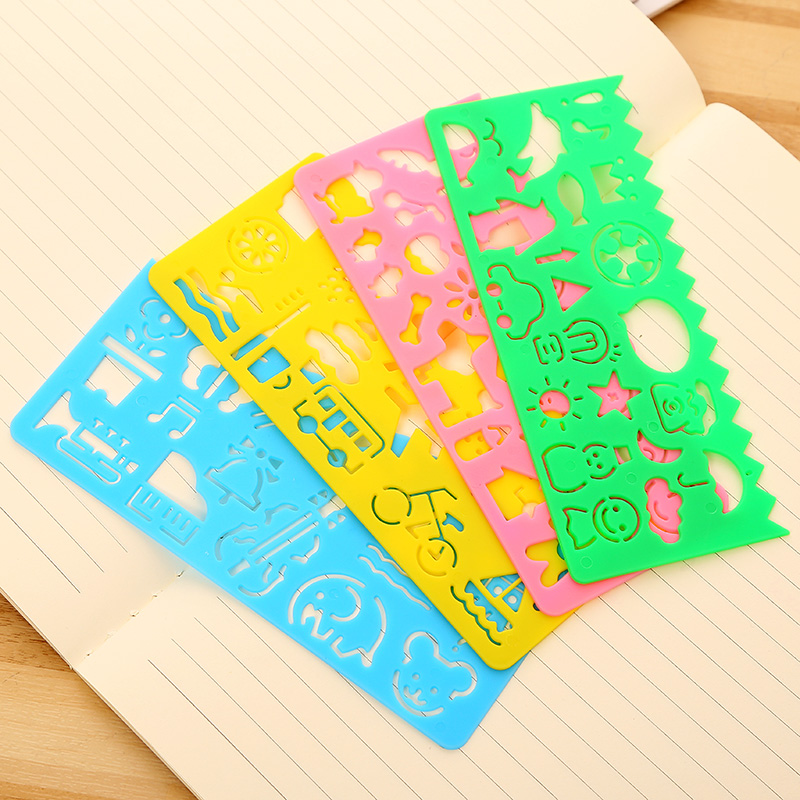 2018 Unisex Plastic Aquadoodle 1pcs Children Painting Drawing Template Rulers Gift For Kids School Supplies Toys Stationery