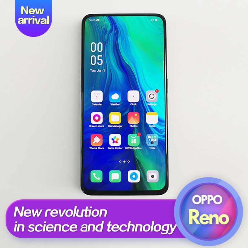 OPPO Reno nouveauté téléphone intelligent 6.4 pouces Qualcomm710 Support NFC 2340*1080 Octa Core 3 caméras 48MP + 5MP 3765 mAh identification d'empreintes digitales