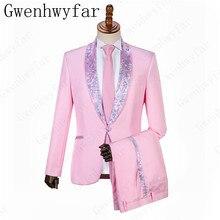 Barato y fino Luz Rosa boda chal solapa esmoquin de novio para hombres boda  baile cena mejor hombre Blazer (chaqueta + Pantalone. b6946b01b4e