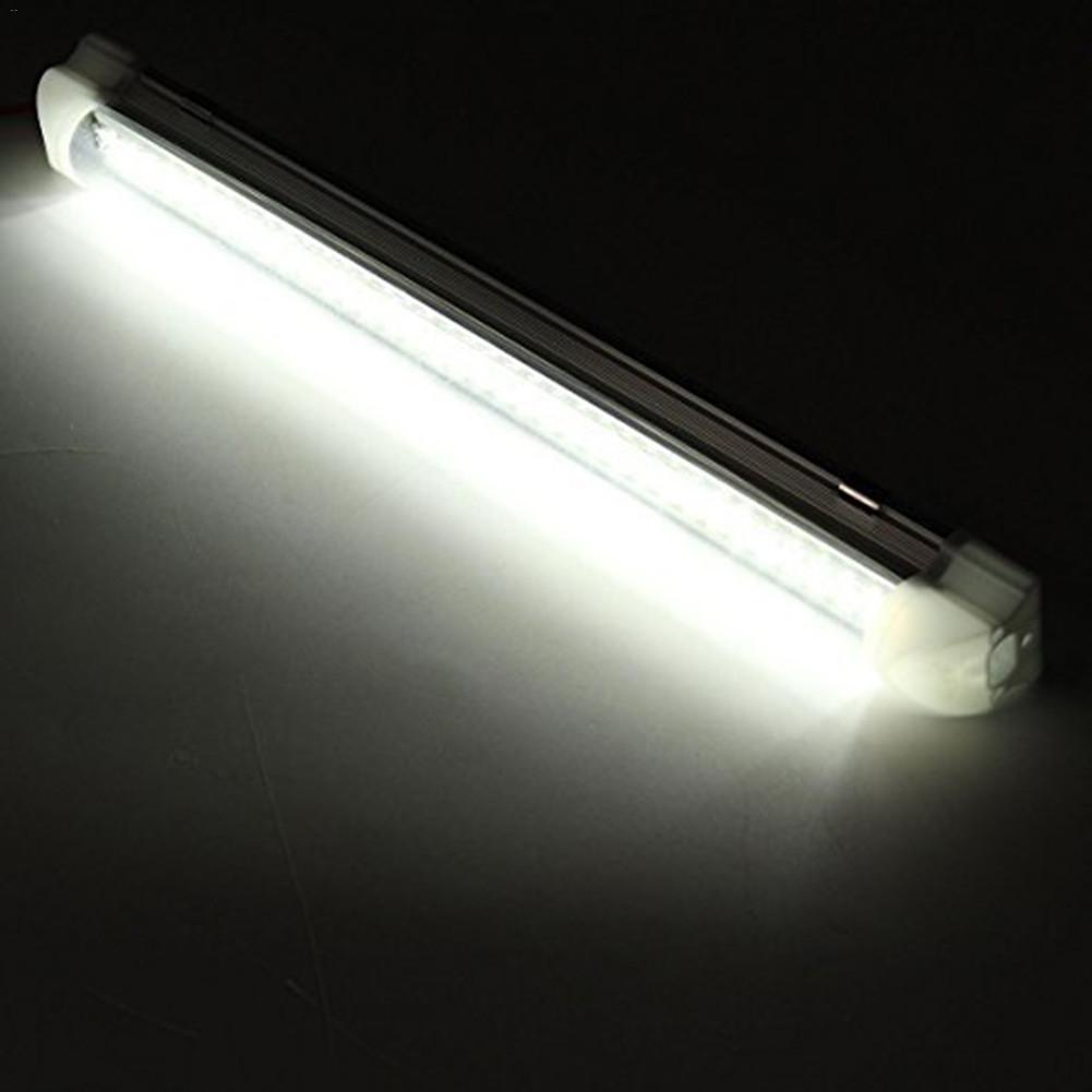 NEW LED Interior Dome Light Bar 12V Automotive Interior White Ceiling Lamps On/Off Switch Waterproof RV Truck Interior Light