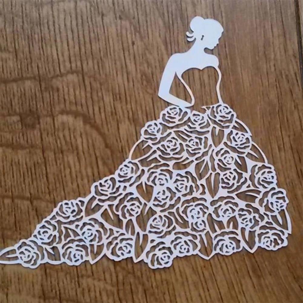 Girl Lady  Metal DIY Cut Dies Stencil Scrapbook Album Paper Card EmbossingCrafJB