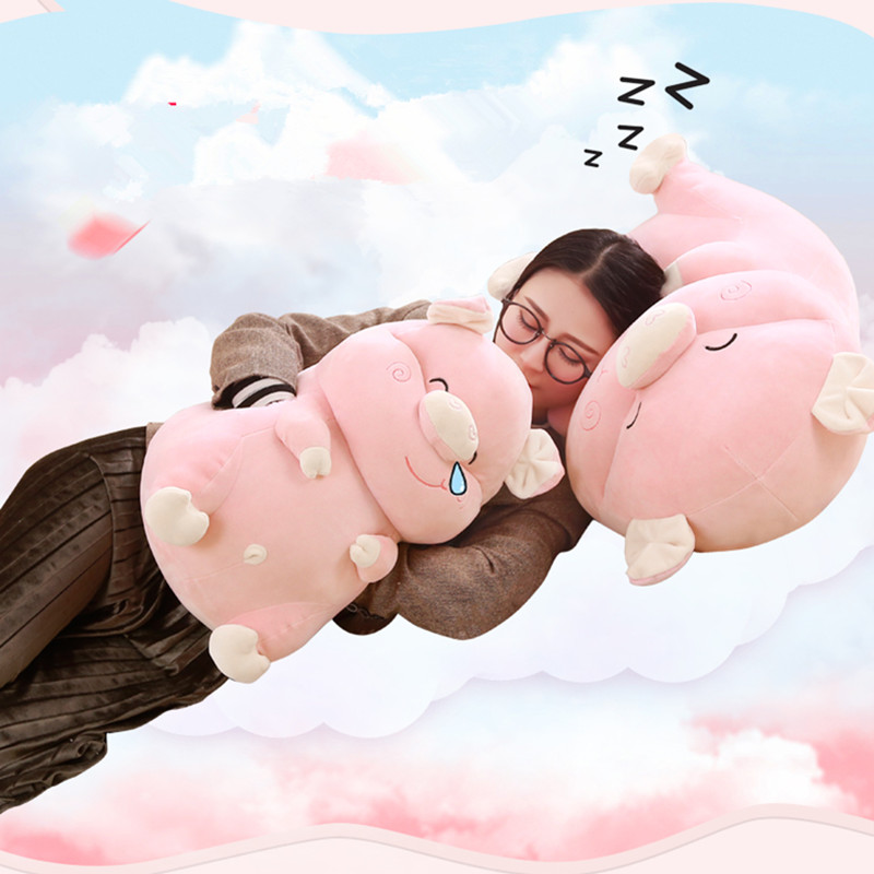 1pc 45cm Kawaii Pig Plush Toy Stuffed Cartoon Hand Warmer Soft Pillow Sleeping Toy for Girls Kids Love Doll Cute Gift for Child 1pc 58cm kawaii plush akita dog toy stuffed animal doll soft pillow with blanket cute hand warmer lovely gift for kids