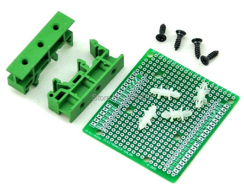 DIN Rail Mount Adapter/Prototype PCB Kit For UNO / Mega 2560 Etc.