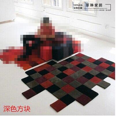 Современные ковры ручной работы для гостиной, спальни, модный креативный журнальный столик, диван, инопланетянин, индивидуальность, тренд, ковер на заказ - Цвет: E