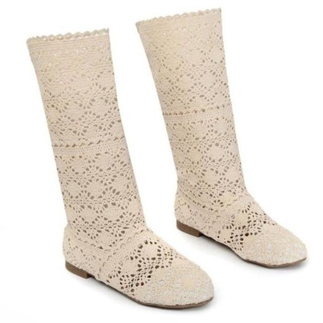 spring ankle boots for women shoes botas feminina designer version luxury brand summer white lace boots casual shoes women 2018