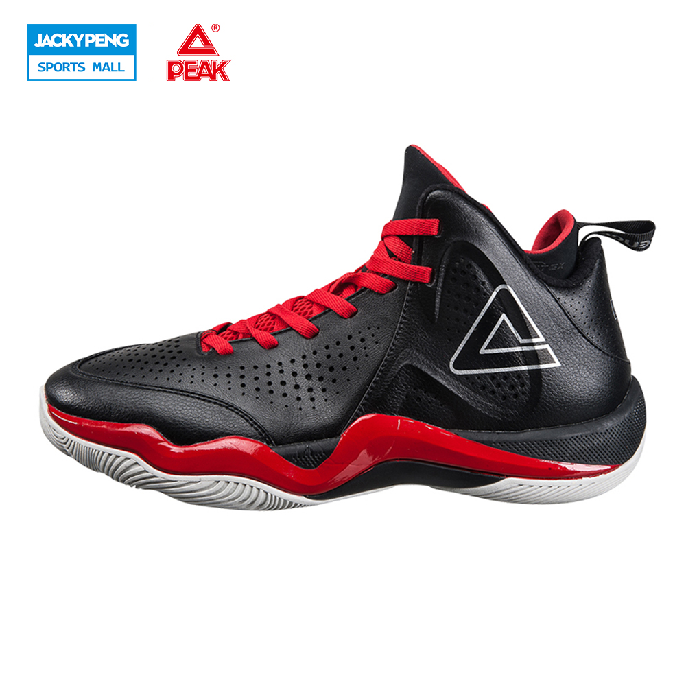 PEAK Challenger 2.2 Men Plus Size EUR 40-47 Basketball Shoes Breathable Outdoor Sneakers Wavy Grips Wear Non-slip Training Boots peak sport star series george hill gh3 men basketball shoes athletic cushion 3 non marking tech sneakers eur 40 50