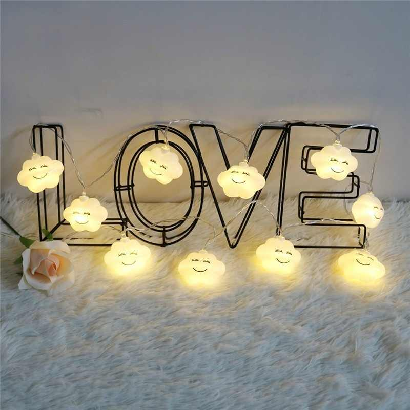 10 Leds Cloud String Lights Battery Powered Indoor Ambient Lighting for Garden Party Wedding Living Room Christmas Led