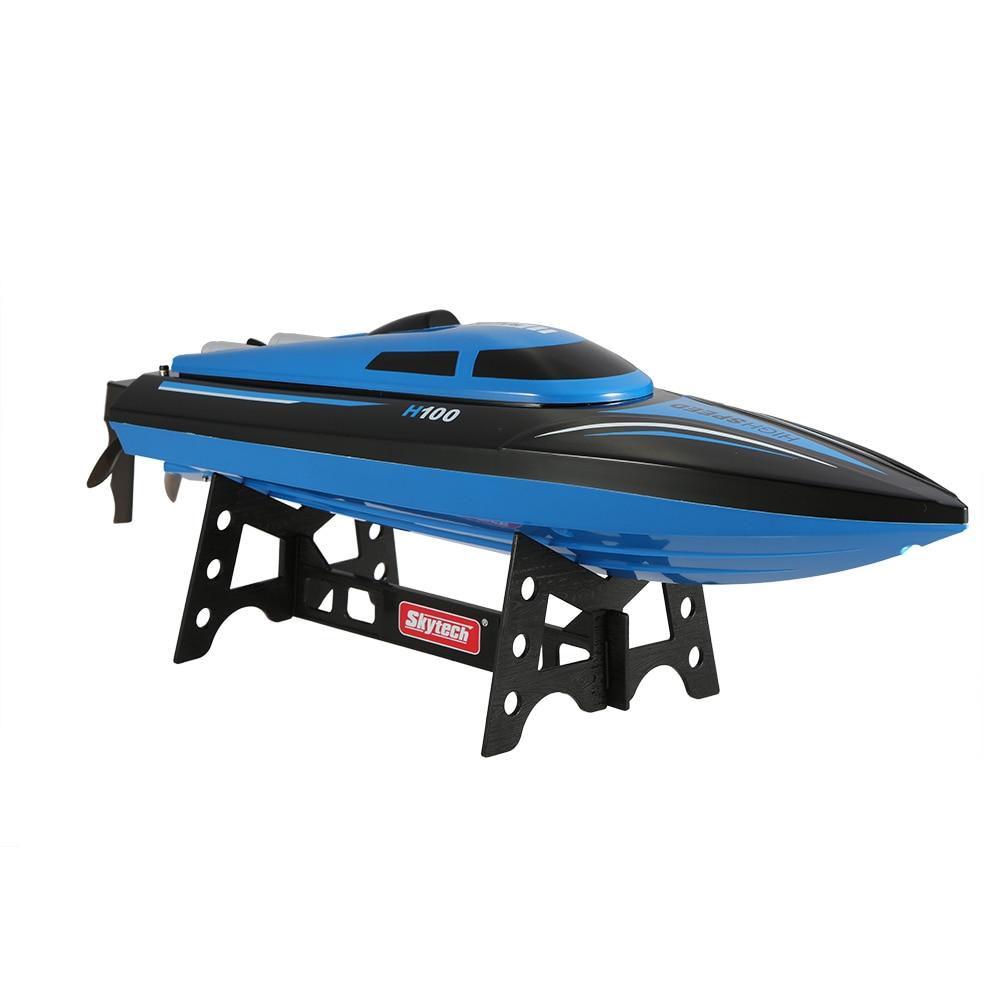 H100 2.4G 30 KM/H haute vitesse RC bateau télécommande 180 degrés Flip électrique bateau de course rapide hors bord RC bateau jouets cadeaux-in Bateaux télécommandés from Jeux et loisirs    1