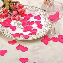 Free shipping 50pcs Fabric Heart dia 1.4cm/2.1cm/3.5cm/5cm Wedding Confetti Table Decoration birthday party Decorative Supplies