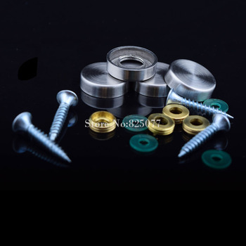 304 Stainless Steel Advertisement Fixing Screws Standoff Covers Flat Mirror Screws Cover Caps Diameter 19mm 100pcs/lot KF753