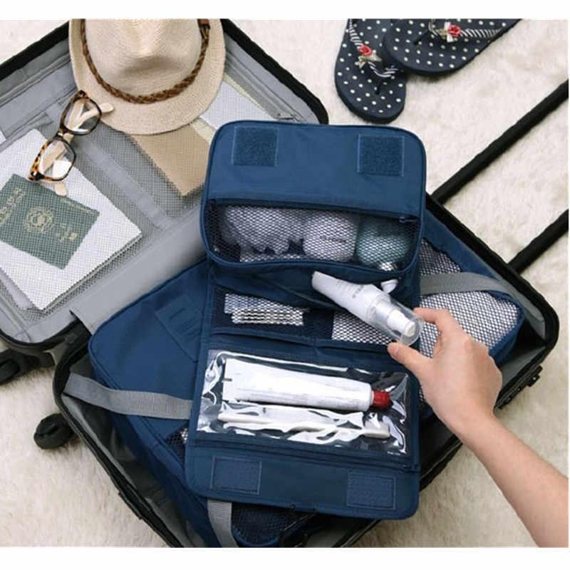 Moda etui podróżne wodoodporne przenośne kosmetyczki człowiek kosmetyczki kobiety kosmetyczne organizator pokrowiec wiszące pranie torby