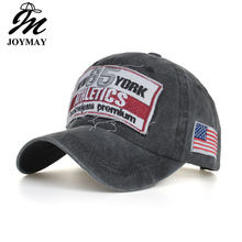 Joymay 2019 NEW ARRIVAL Spring Fashion Vintage style embroidery New york cotton Snapback Unisex sport outdoor Baseball cap B606(China)