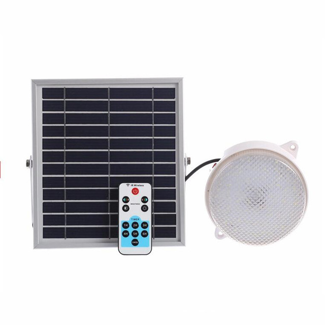 Outdoor Indoor 30 Led Solar Light Garden Home Security Lamp Dimmable By Remote Controlled Camp Travel Lighting