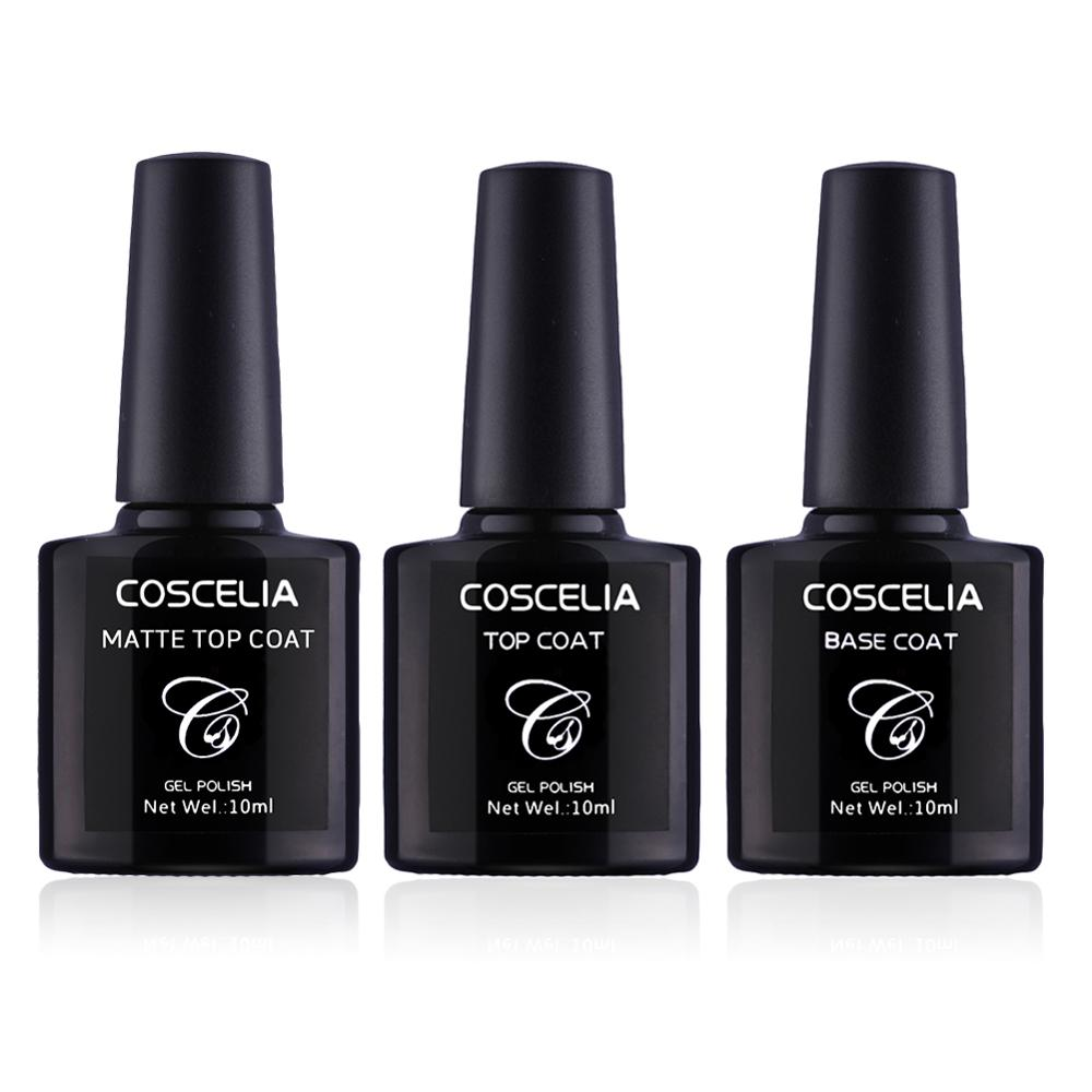 Coscelia Matt 10ml Gel Nail Polish Surface No Light Soak
