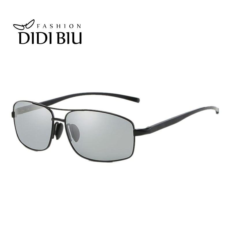 Didi photochromic Gafas polarizadas Gafas de sol hombres sombras marca plana rectángulo Sol Gafas para conducir gafas oculos h843