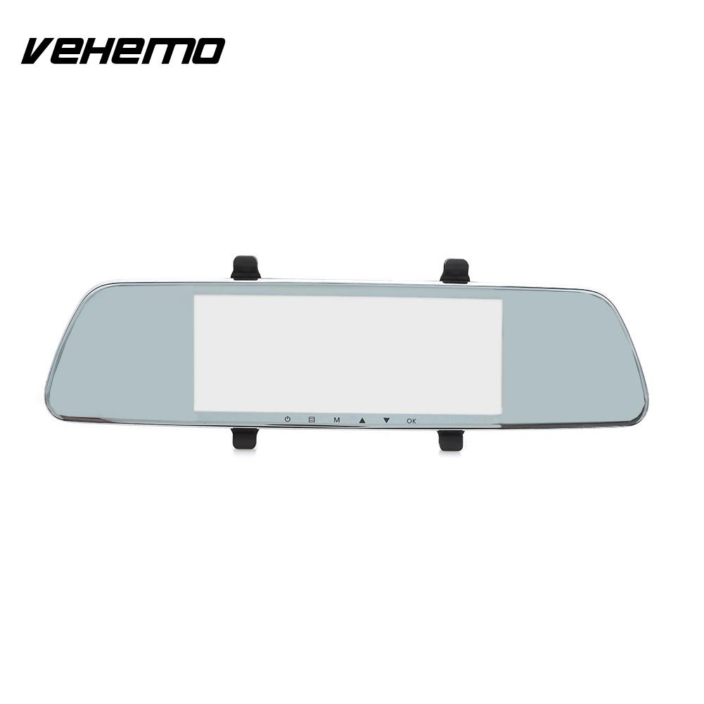 Vehemo 2.5D IPS Screen Camcorder Automobile Dash Cam Premium Rearview Mirror Car DVR Parking Monitor Durable Loop Recording