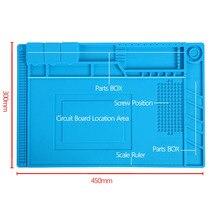 Hittebestendig Solderen Siliconen Mat Voor Warmte Gun BGA Soldeerstation Isolatie Pad Reparatie Tools Onderhoud Platform Bureau