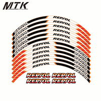MTKRACING motorcycle wheel decals Reflective stickers rim stripes FIT HONDA REPSOL CBR250RR CBR400RR CBR600RR CBR1000RR