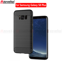 hot deal buy for samsung galaxy s8 plus s8+ case carbon fiber ultra slim soft silicone protection cases for samsung galaxy s8 plus phone case
